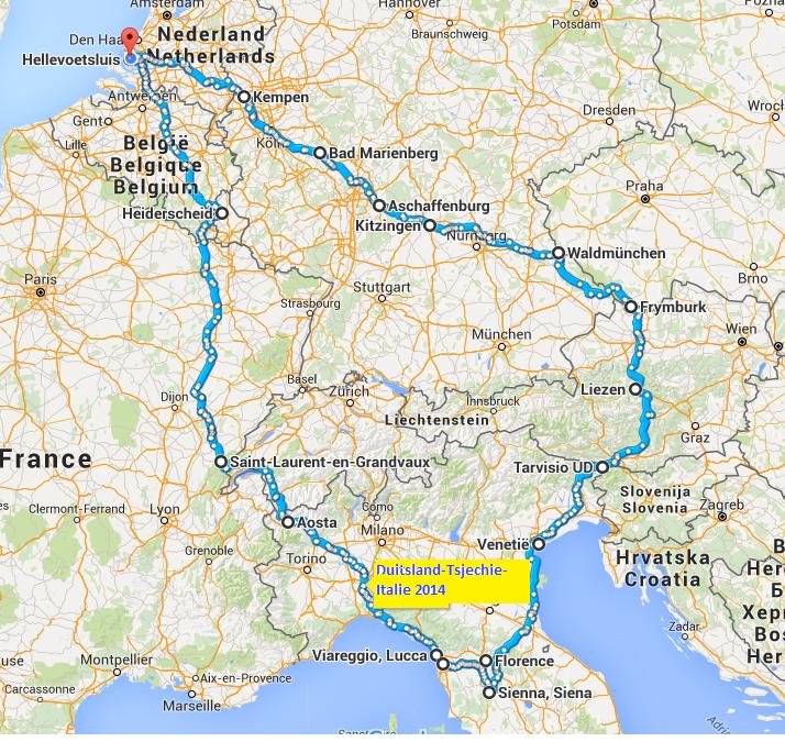 romantische route duitsland kaart